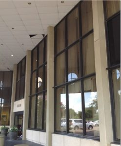 exterior window film fort worth before film
