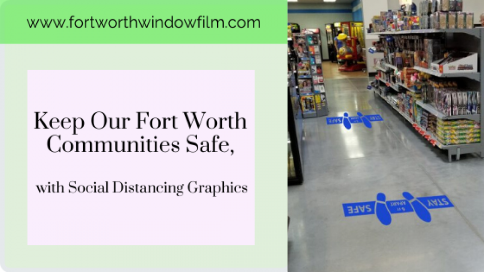 social distance graphics Fort Worth Texas